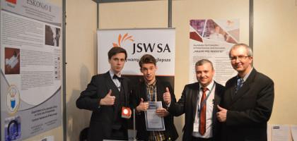 Nagroda główna Grand Prix dla młodych wynalazców oraz złoty medal z wyróżnieniem dla młodych wynalazców - Bruksela 2014.
