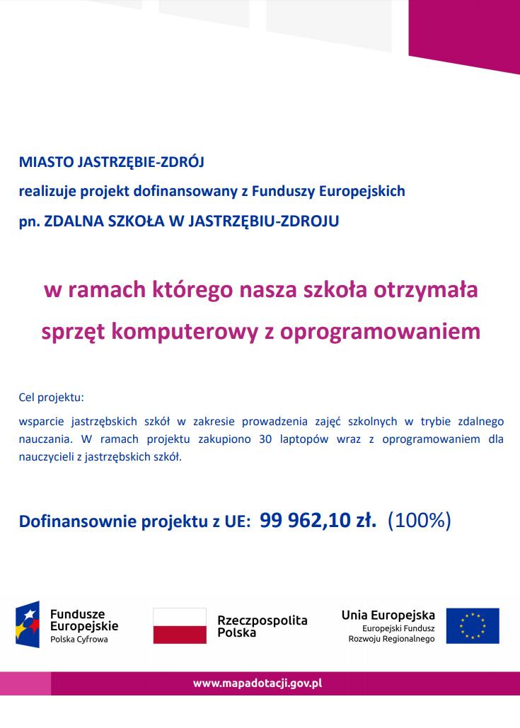 "Projekt ""ZDALNA SZKOŁA"""