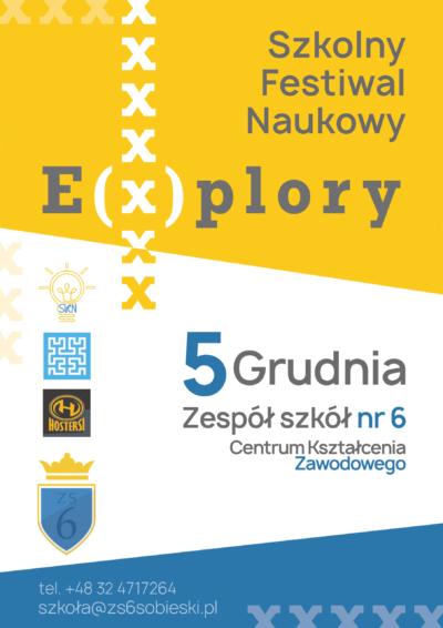 Święto innowacji w Zespole Szkół nr 6 – Szkolny Festiwal E(x)plory.