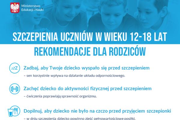 Wyjście uczniów na szczepienia przeciwko COVID-19