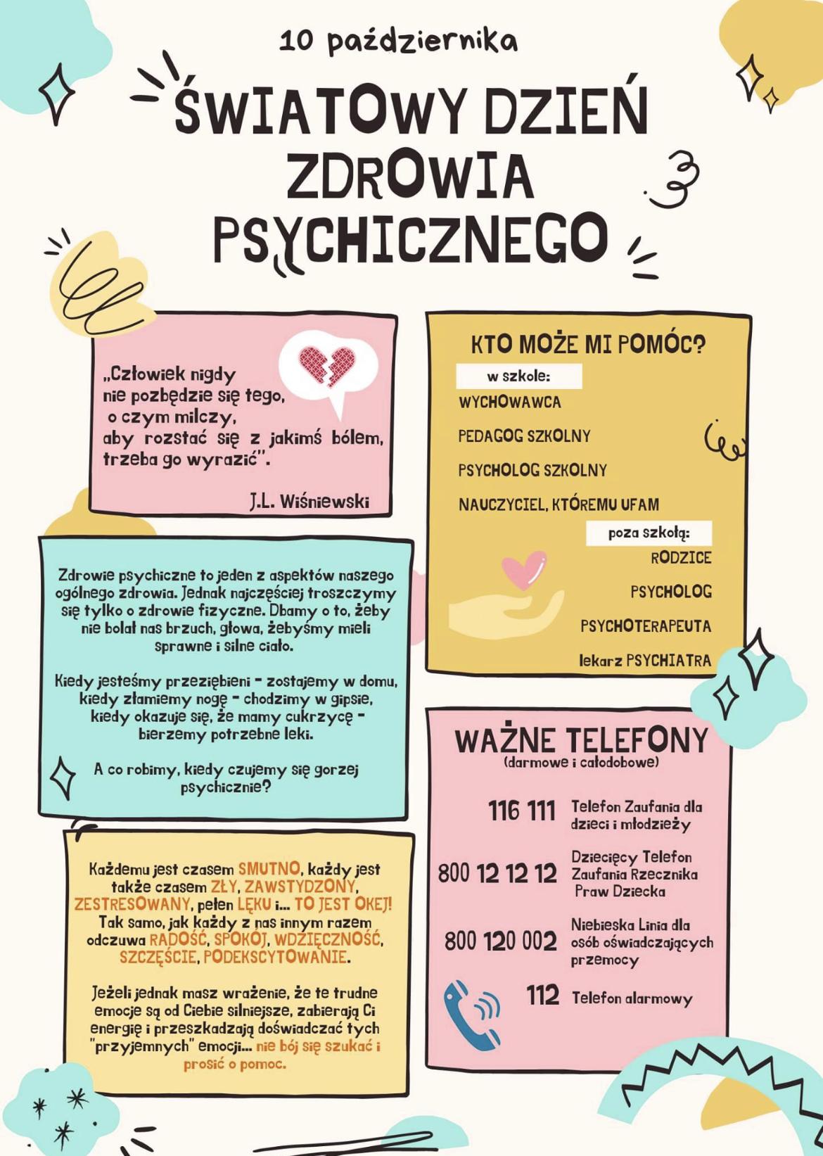 Światowy Dzień Zdrowia Psychicznego